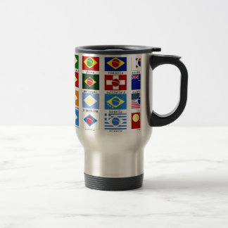 Mug De Voyage drapeaux pour la coupe du monde au brésil