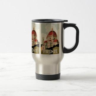Mug De Voyage Duomo vintage d'église de Florence Firenze Italie