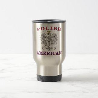 Mug De Voyage Eagle blanc américain polonais