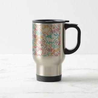 Mug De Voyage Éléphants avec le motif de bouquets