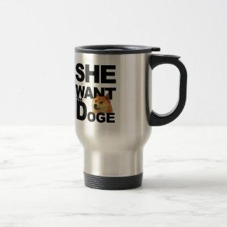 Mug De Voyage Elle veulent le doge