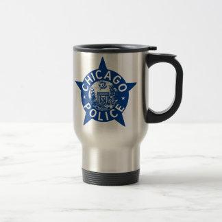 Mug De Voyage ÉTOILE VINTAGE de police de Chicago