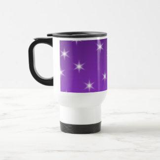 Mug De Voyage Étoiles de pourpre et blanches, modèle