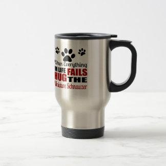 Mug De Voyage Étreignez le chien de Schnauzer miniature
