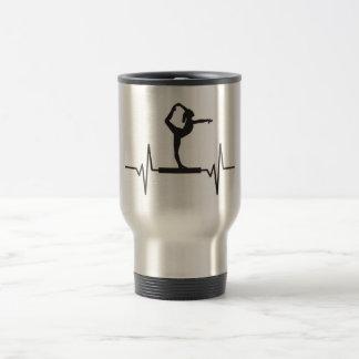 Mug De Voyage Faisceau d'équilibre de gymnaste - graphique
