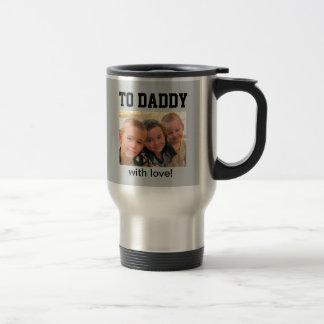 Mug De Voyage Fête des pères heureuse - photo faite sur