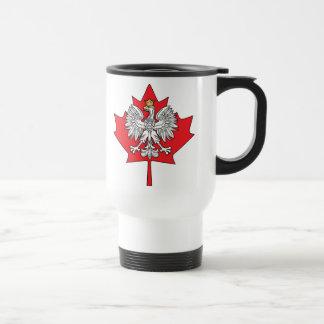 Mug De Voyage Feuille d'érable canadienne polonaise