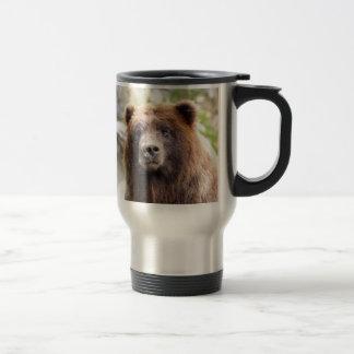 Mug De Voyage Fin de portrait d'ours gris