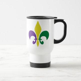 Mug De Voyage ~ Fleur De Lis de mardi gras