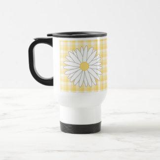 Mug De Voyage Fleur de marguerite dans jaune et le blanc