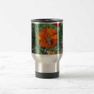 Mug De Voyage Fleur orange d'abeille de souci