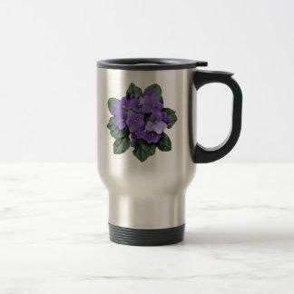 Mug De Voyage Fleur pourpre de jardin de violette africaine