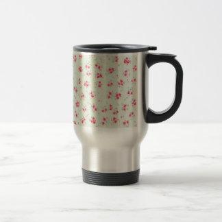 Mug De Voyage Fleurs roses chics minables florales vintages de