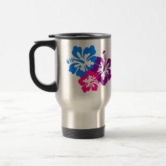 Mug De Voyage Fleurs tropicales de ketmie dans des couleurs