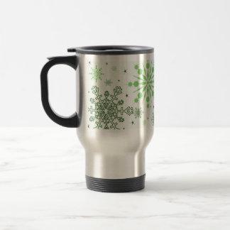 Mug De Voyage Flocons de neige assez verts