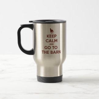 Mug De Voyage Gardez le calme et allez à la grange
