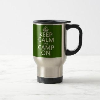 Mug De Voyage Gardez le calme et le camp dessus