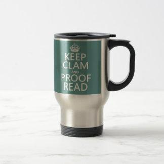 Mug De Voyage Gardez le calme et le corrigez sur épreuves