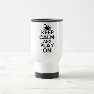 Mug De Voyage Gardez le calme et le jeu sur (les tambours)