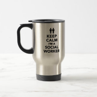 Mug De Voyage Gardez le calme que je suis un assistant social