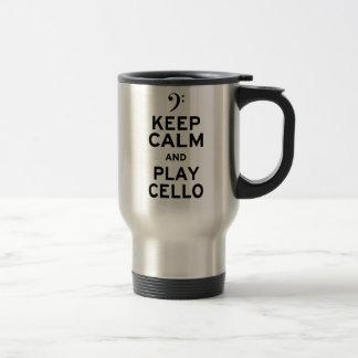 Mug De Voyage Gardez le violoncelle de calme et de jeu
