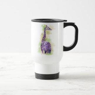 Mug De Voyage Girafe 1 d'aquarelle
