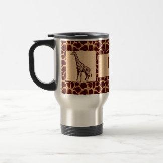 Mug De Voyage Girafe masculine et sauvage avec le nom