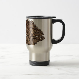 Mug De Voyage Grains de café fond transparent