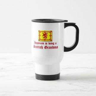 Mug De Voyage Grand-maman écossaise heureuse
