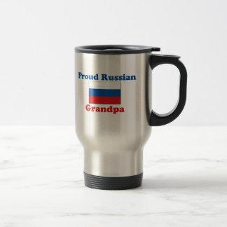 Mug De Voyage Grand-papa russe fier
