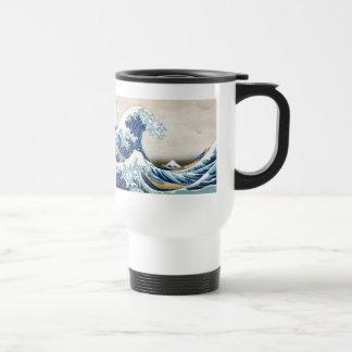 Mug De Voyage grande vague de 北斎 outre des beaux-arts de