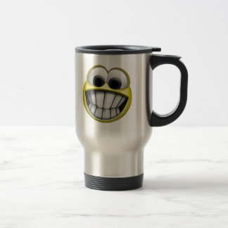 Mug De Voyage Grimacerie du visage souriant heureux