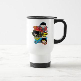 Mug De Voyage Héros de Chibi prêts pour l'action !