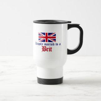 Mug De Voyage Heureusement marié à un Britannique
