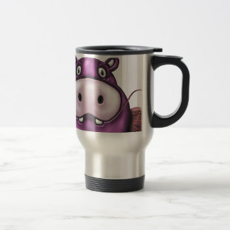 Mug De Voyage Hippopotame heureux de crochet d'hippopotame