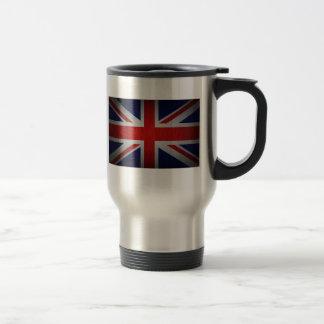 Mug De Voyage Image britannique de drapeau d'Union Jack dessus