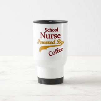 Mug De Voyage Infirmière d'école actionnée par le café