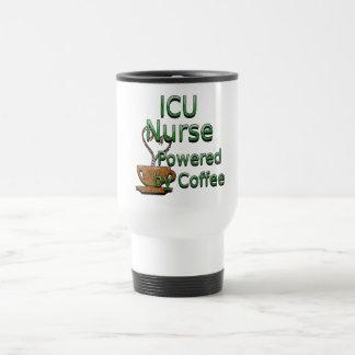 Mug De Voyage Infirmière d'ICU actionnée par le café