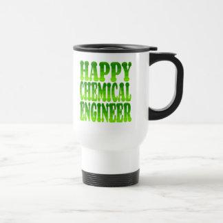 Mug De Voyage Ingénieur chimiste heureux en vert