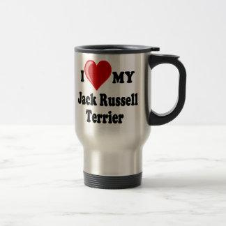 Mug De Voyage J'aime (coeur) mon chien de Jack Russell Terrier