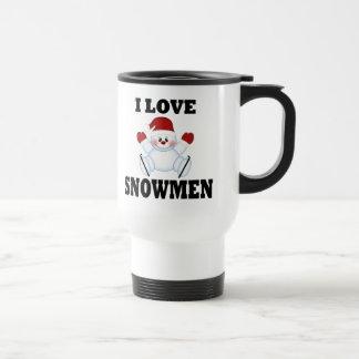 Mug De Voyage J'aime des bonhommes de neige
