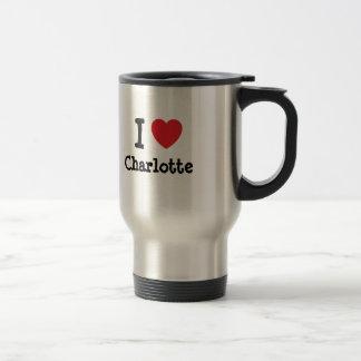 Mug De Voyage J'aime le T-shirt de coeur de Charlotte