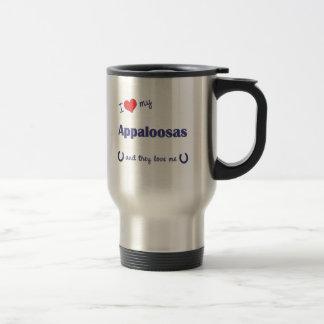 Mug De Voyage J'aime mes Appaloosas (les chevaux multiples)