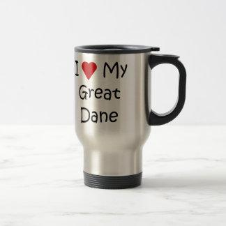 Mug De Voyage J'aime mes cadeaux d'amant de race de chien de