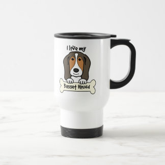 Mug De Voyage J'aime mon Basset Hound