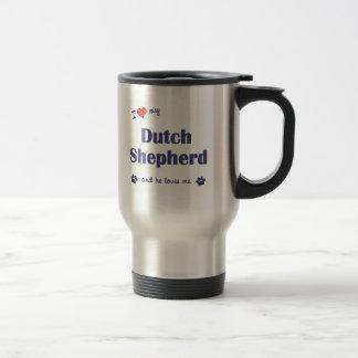 Mug De Voyage J'aime mon berger néerlandais (le chien masculin)