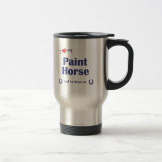 Mug De Voyage J'aime mon cheval de peinture (le cheval masculin)