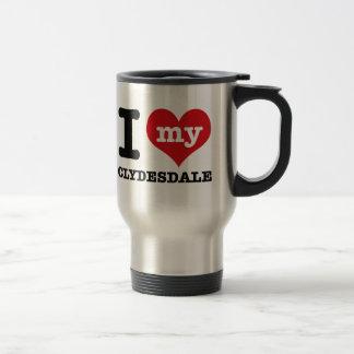 Mug De Voyage J'aime mon clydesdale