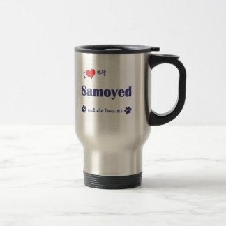 Mug De Voyage J'aime mon Samoyed (le chien femelle)