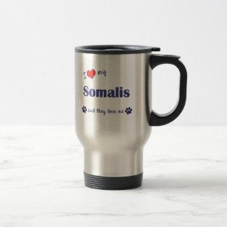 Mug De Voyage J'aime mon Somalis (les chats multiples)